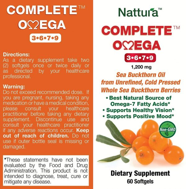 Complete Omega 3 6 7 9 Highest Quality Pure Sea Buckthorn Oil